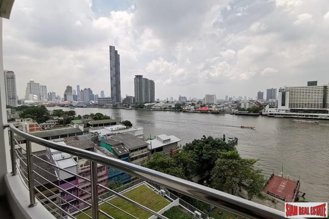 Supalai River Place Condominium - Two Bedroom Corner Unit with Amazing City and Chao Phraya River Views at Krung Thonburi