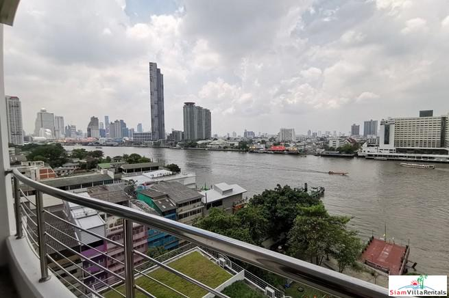 Supalai River Place | Two Bedroom Corner Unit with Amazing City and Chao Phraya River Views at Krung Thonburi
