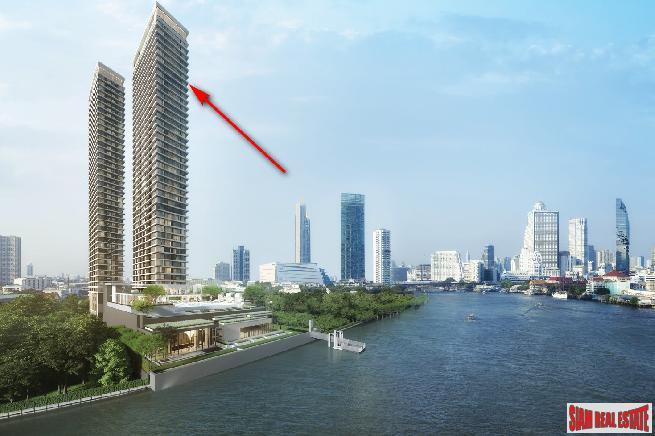 Pre-Launch - Best Waterfront Living in the Heart of Bangkok (Sathorn-Chareonnakorn) - Three Bed Units
