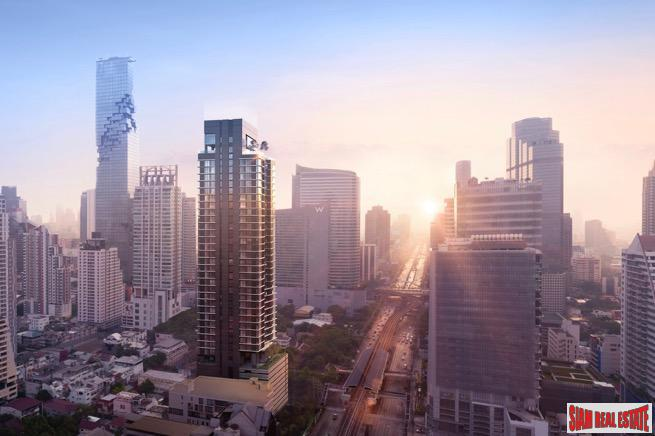 New Super Luxury Condominium in Prime Sathorn Location - Two Bedroom