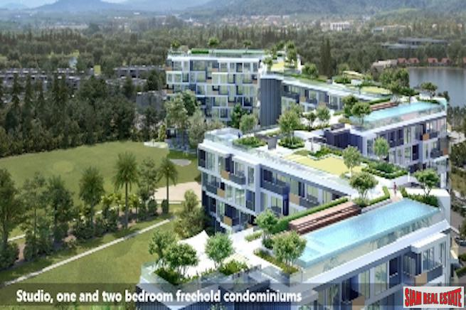 New Studio, 1 Bed and 2 Beds Condo Development Overlooking Laguna Phuket Golf Course
