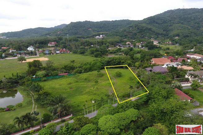 Large 5 Rai Land Plot with Mountain and Big Buddha Views in a Central Chalong Location