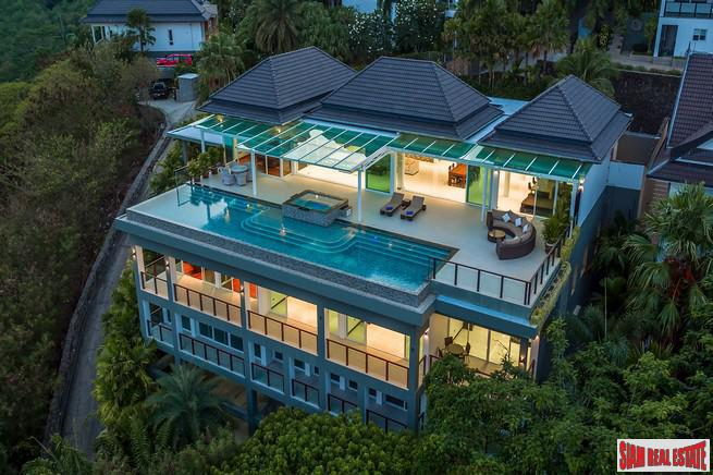 The Finest Ocean Views in Southern Phuket from this Six Bedroom Pool Villa in Rawai