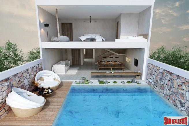 Modern Two Storey Two Bedroom Development with Private Swimming Pools in Nai Harn