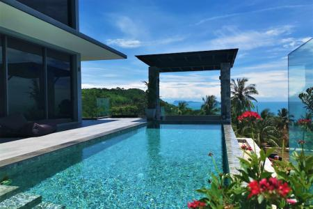 STUNNING KOH SAMUI VILLA FOR SALE WITH 180 DEGREES SEA VIEWS  S1708