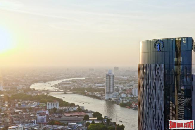 Exclusive Newly Completed Luxury Condo with Spectacular Panoramic Chao Phraya River Views - Three Bedrooms