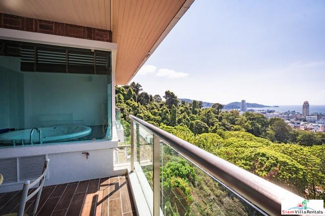 The Royal Bay View Villas | Spacious and Comfortable One Bedroom Sea View Condo for Rent in the Hills of Patong