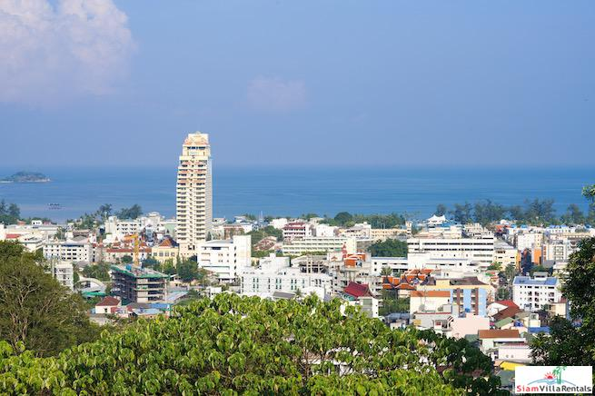 Super Sea Views from this Studio Condo for Rent in the Hills of Patong