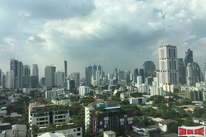 Sunny Furnished Studio Condo with Great City Views for Sale in Popular Thong Lo