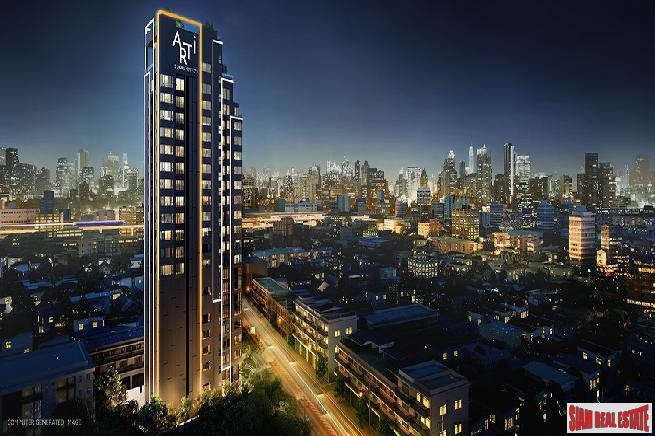 New High-Rise Low Density Smart Condo at Sukhumvit 71, Close to Ekkamai and Thong Lor - Studio Units