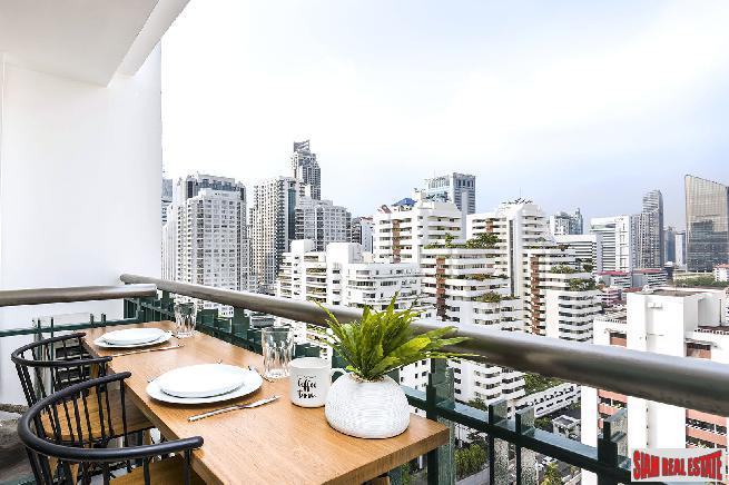 Two Bed Corner Unit Quality Condo on High Floor with City Views at Asoke