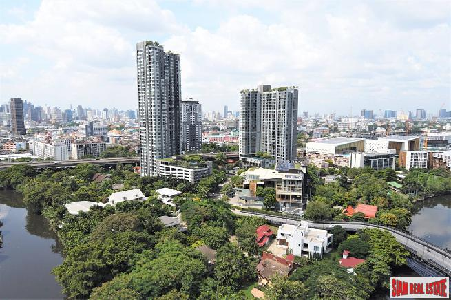 One Bed on High Floor with Serene Green, Canal and City Views at Sukhumvit 77, Onnut