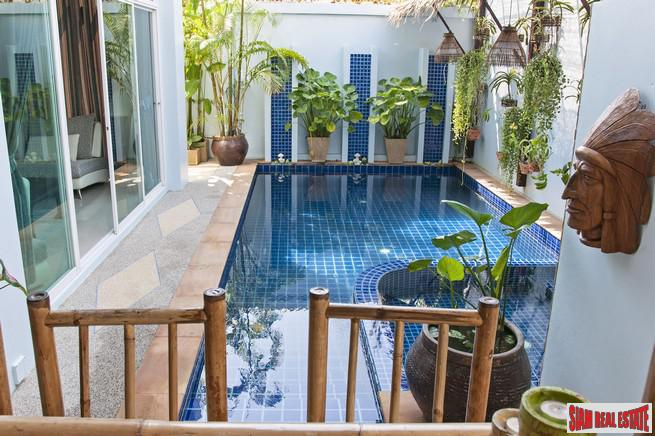 Extra Special Three Storey Three Bedroom Pool Villa with Private Tropical Outdoor Terrace in Rawai