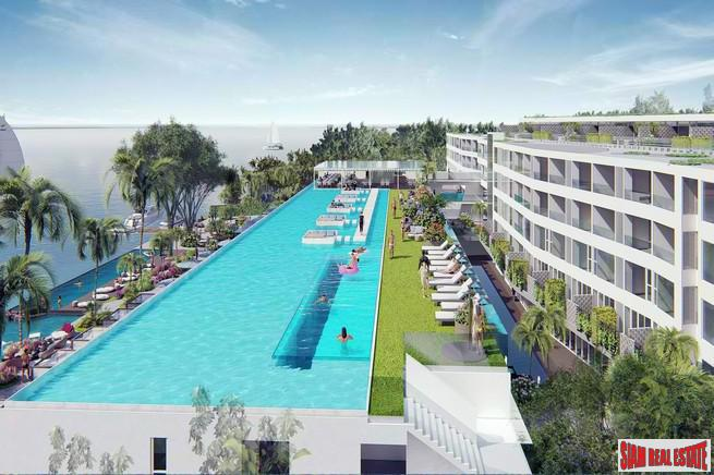 New Beach Club Theme Condominium Project on the Beach in Chalong