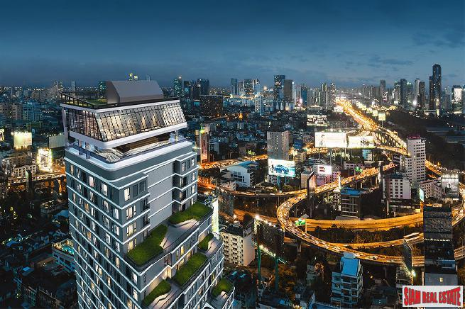 Just Completed Luxury High-Rise Condo with 360 Roof Pool at Victory Monument, Phaya Thai - One Bed Units