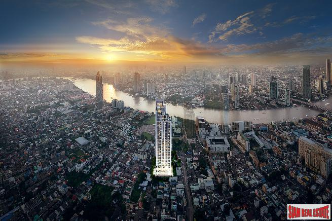 New Riverside High-Rise Condo in Construction in a Community by Leading Thai Developer - Three Bed Units