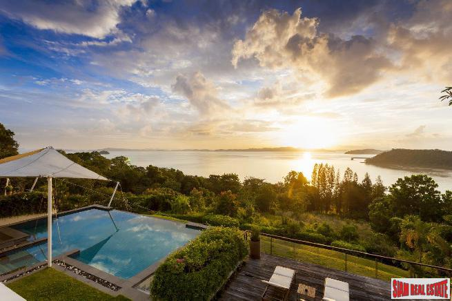Luxury Six Bedroom Villa for Sale Overlooking Amazing Phang Nga Bay in Ao Por