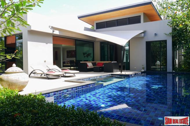 Tropical Three Bedroom Private Pool Villa for Sale in a Prestigious Nai Harn Estate