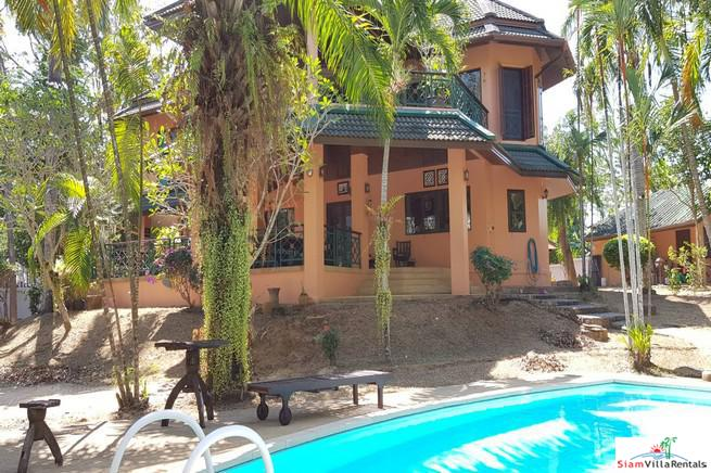 Large Private Four Bedroom House with Pool for Rent on One Rai of Land in Chalong