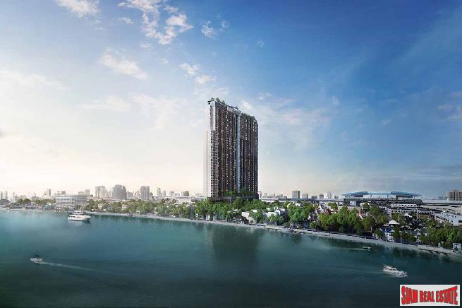 New High-Rise Riverside Smart Condo in Construction by Leading Thai Developer at Bang Phlat - One Bed Plus Units