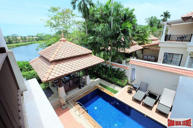 Three Bedroom Lagoon View Townhouse with Private Pool in Laguna