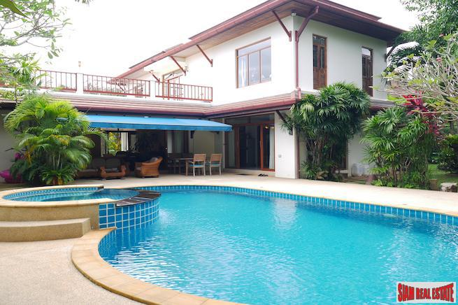 Baan Prangthong | Beautiful Two Storey House with Pool and Macca Wood Floors for Sale in Chalong