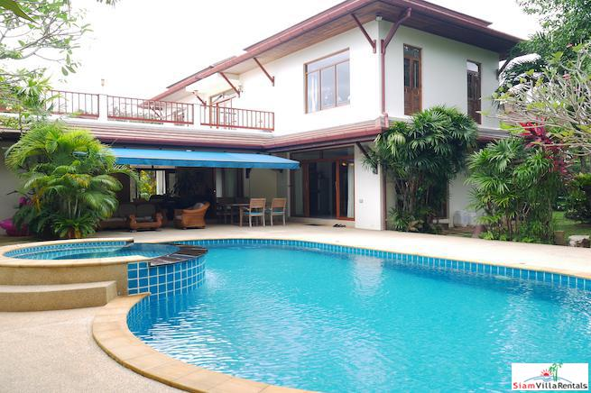 Beautiful Two Storey House with Pool and Macca Wood Floors for Rent in Chalong