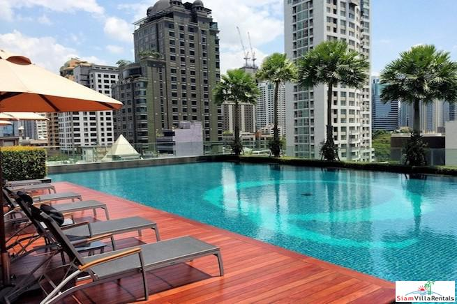 Luxury Two Bedroom Condo for Rent on 19th Floor in Ratchadamri