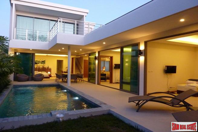 Modern Four Bedroom Pool Villa with Rooftop Terrace for Sale in Rawai