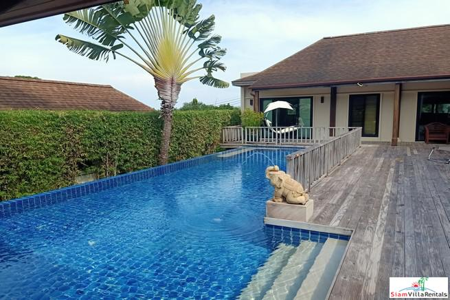 Spacious Four Bedroom Family House in Nai Harn for Rent with Private Pool and Close to the Beach