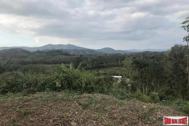 Big Land Plot for Sale with Beautiful Mountain Views in Phang Nga