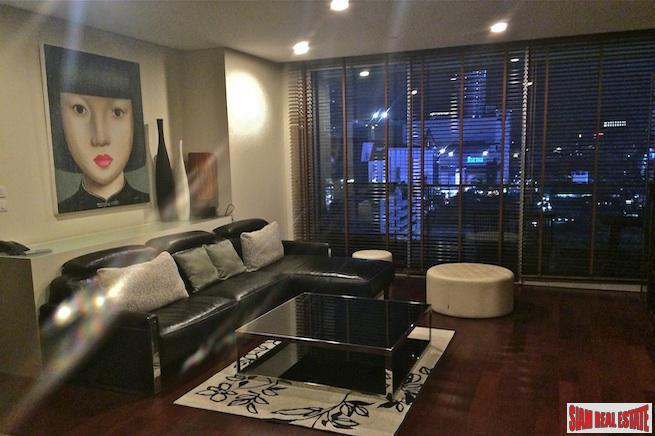 Two Bedroom Fully Furnished Condo for Rent Facing the World Trade Center in Chidlom