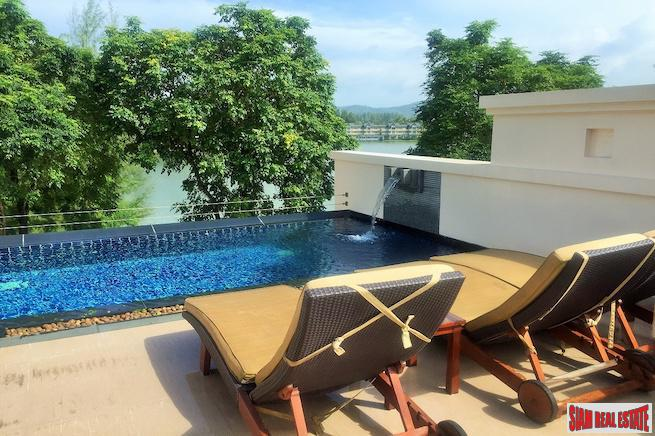 Private Two Bedroom Laguna Rooftop Pool Villa for Sale with Lagoon Views