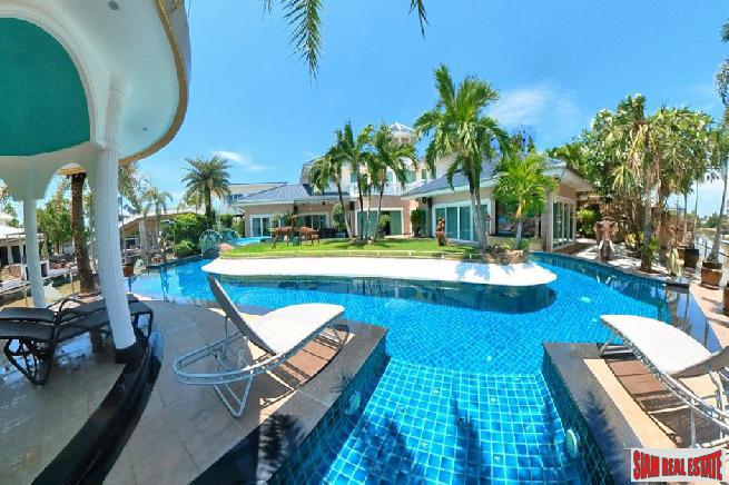 Majestic  Four Bedroom Luxurious Private Pool Villa with Private Boat Mooring in Prestigious Na Jomtien Estate