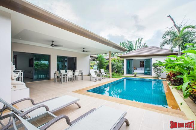 Asian Baan | Beautiful Brightly Decorated 3-Bedroom Private Pool Villa in Cherng Talay