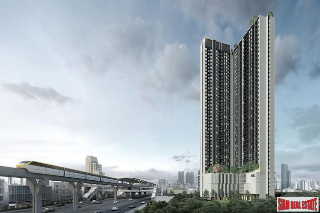 New Value High-Rise Condo by Leading Thai Developer at Srinakarin Road, next to New MRT Si La Salle - Two Bed Units