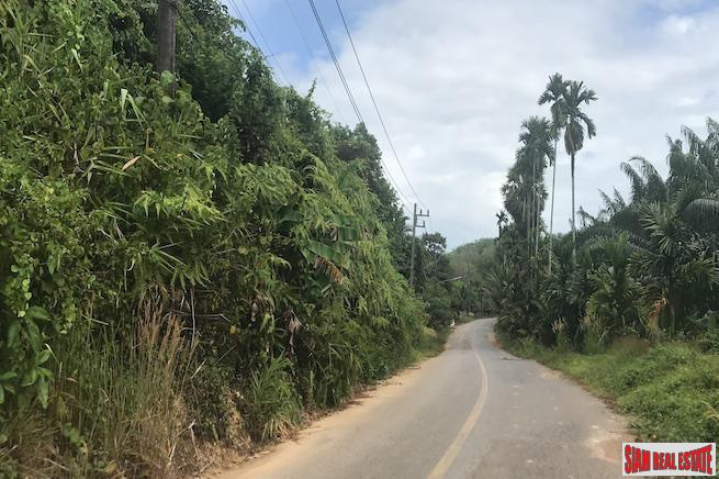Ten Rai of Phang Nga Land for Sale in an Excellent Location Near Phuket and Natai Beach