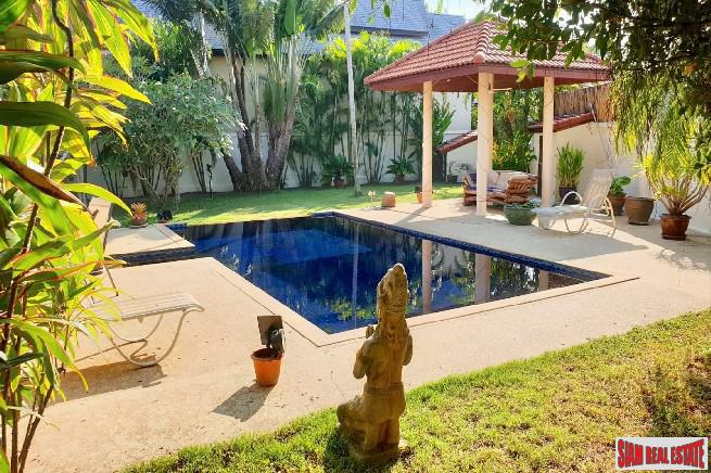 Thai Style Three Bedroom Pool Villa with Large Garden for Sale in Rawai