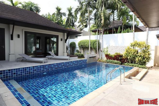 Spacious Three Bedroom Pool Villa with Large Private Yard in Quiet Layan Neighborhood
