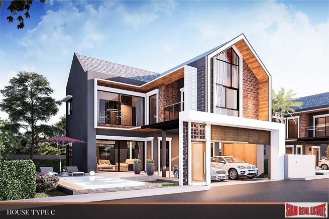 New Two Storey Four Bedroom House Development in Huai Yai, Pattaya