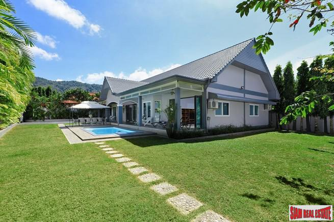 Private Five Bedroom Pool Villa with Spacious Rooms and Large Gardens for Sale in Kamala