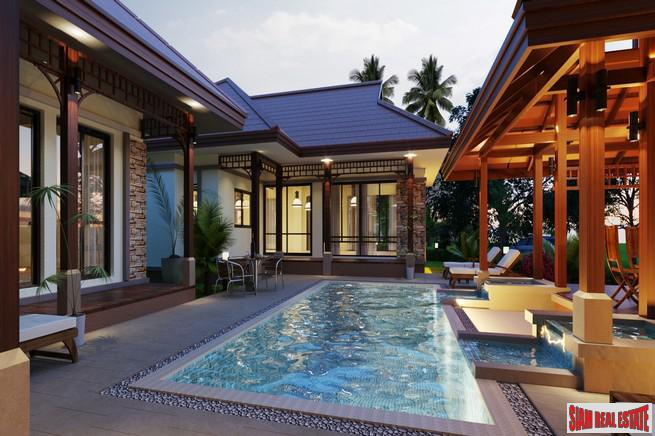 Modern & Private  Bali Style Pool Villa Development with 2-5 Bedrooms in Cherng Talay