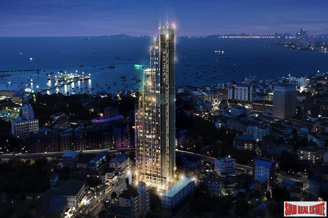 Panoramic Sea Views from this New Pattaya City Condominium - Two Bedroom Available