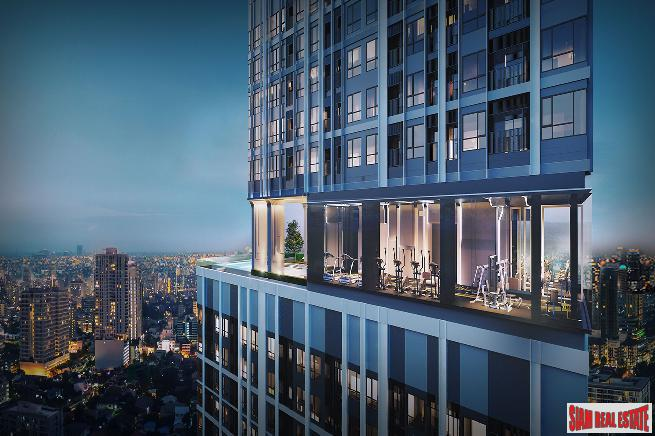 New High-Rise Smart Condo in Construction with Excellent Facilities on Connecting Road between Sukhumvit and Thepharak - 0 Metres to MRT - 2 Bed Units