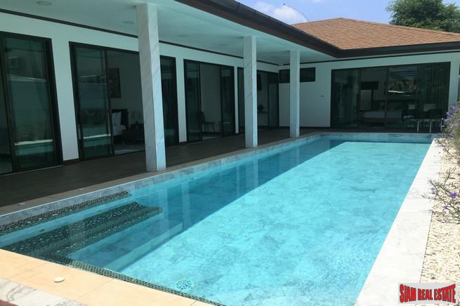 New Contemporary Four Bedroom Pool Villa with Garden for Rent in Rawai