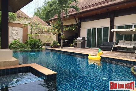 Three Bedroom Pool Villa for Rent with Large Garden near BIS in Koh Kaew