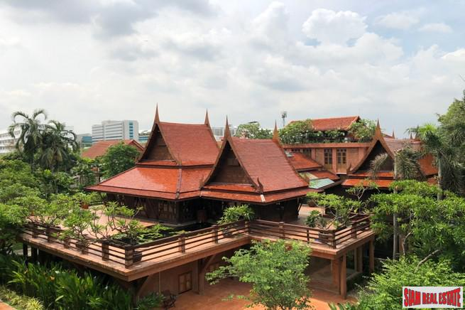 Traditional Thai Style House with Six Bedrooms and Wrap Around Terrace for Sale in Laksa