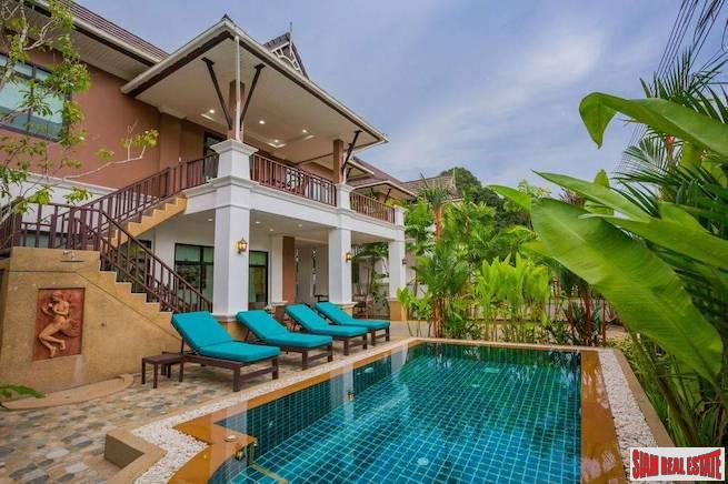 Large Two Storey Three Bedroom Home with Beautiful Blue Tiled Pool in Ao Nang