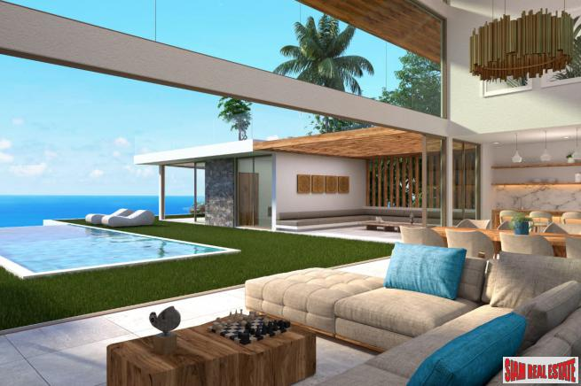 New 4 Bedroom Pool Villa with Sea View in Chaweng Noi, Koh Samui