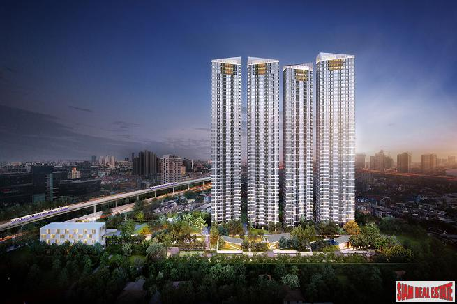 New Off-Plan Mega Project of Condos in Green Surroundings with River and City Views at Sukhumvit 64, Punnawithi - 2 Bed 45 sqm Units